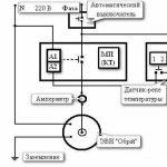 Схема підключення 1-но фазного котла